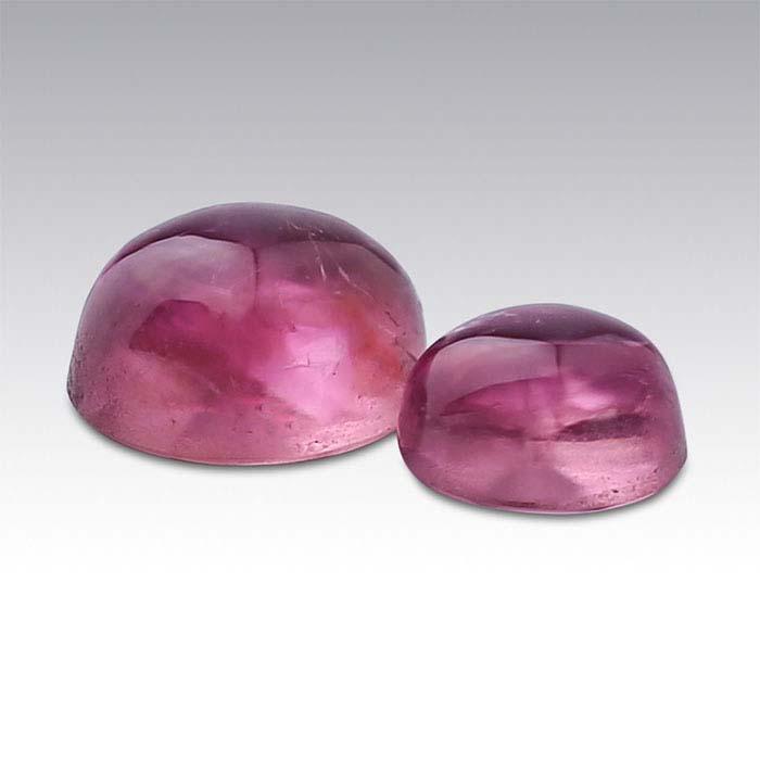 Pink Tourmaline Round Cabochons