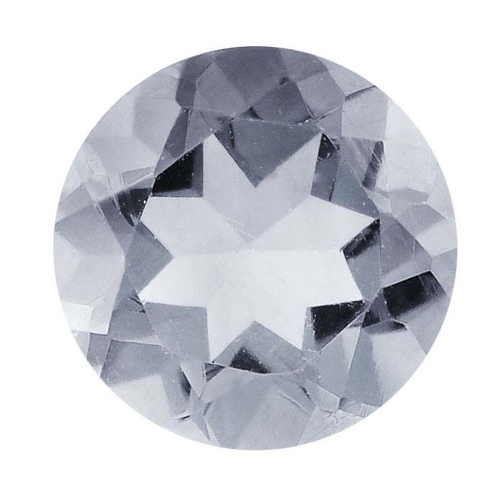White Sapphire 2mm Round Faceted Stone, AAA-Grade