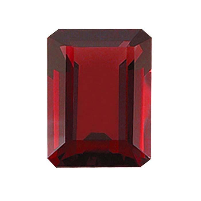 Garnet Octagon Faceted Stones, AA-Grade