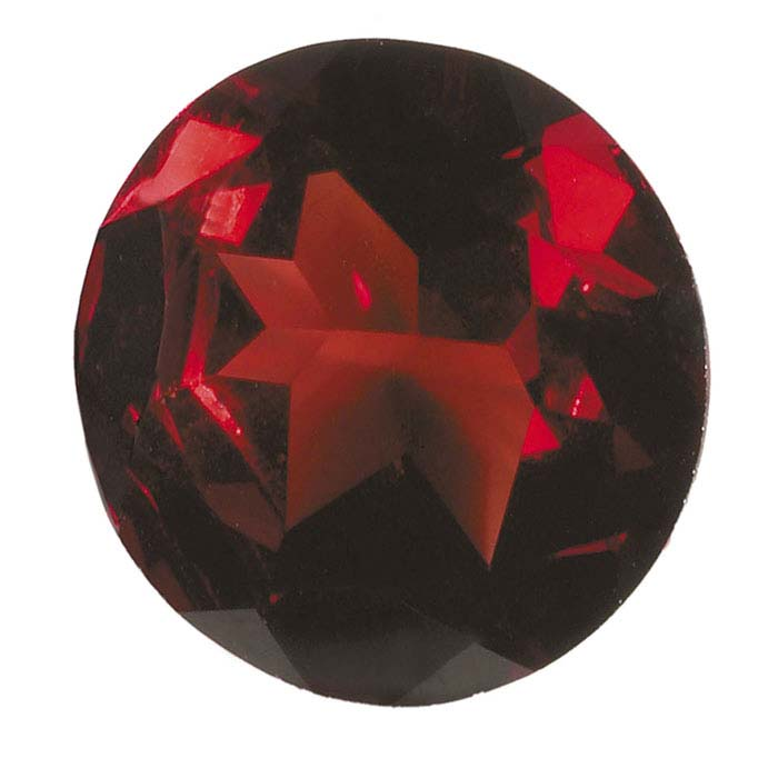 Garnet Round Faceted Stones, AA-Grade