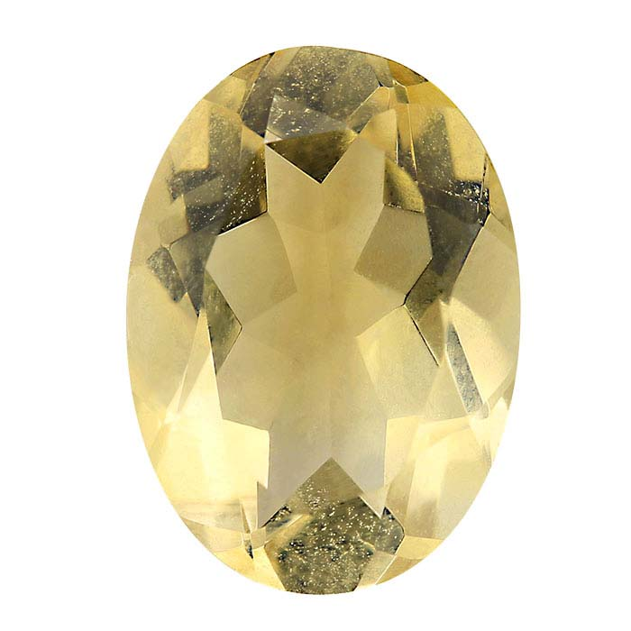 Yellow Citrine Oval Faceted Stones, AA-Grade