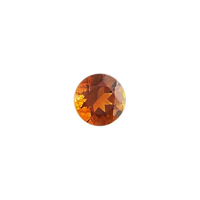 Fire Citrine Round Faceted Stones, AA-Grade