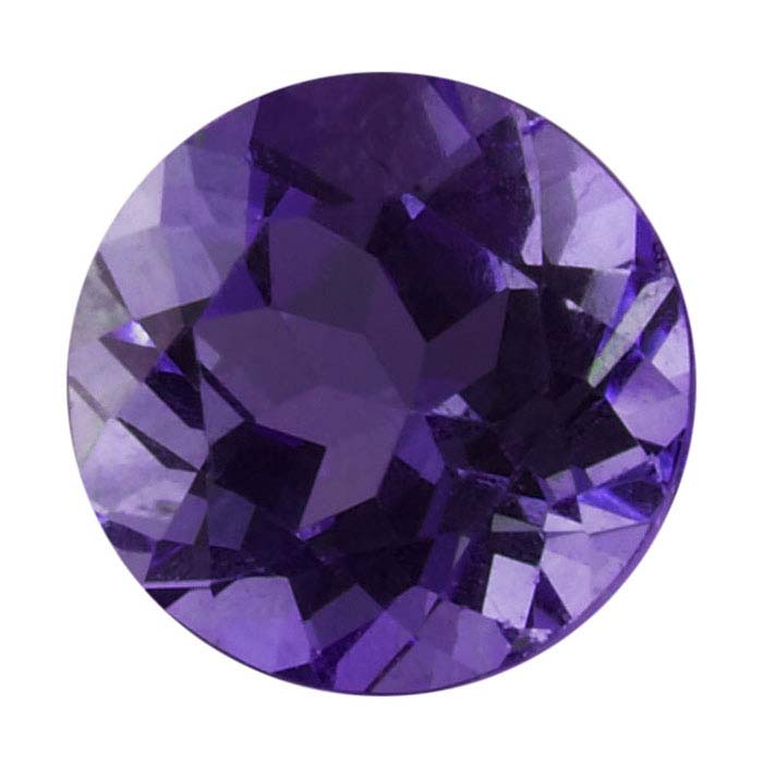 Amethyst Round Faceted Stones, AAA-Grade