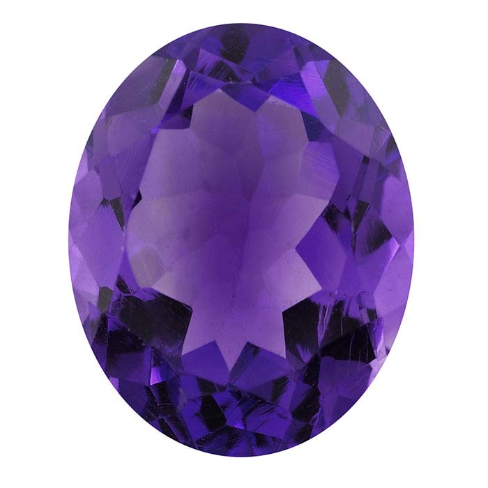 Amethyst Oval Faceted Stones, AAA-Grade