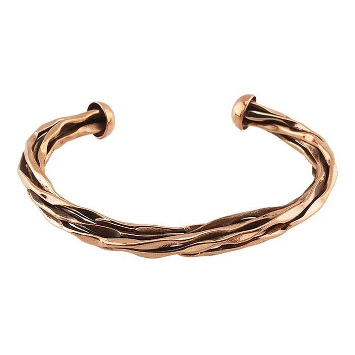 Copper Twisted Wire Cuff Bracelet