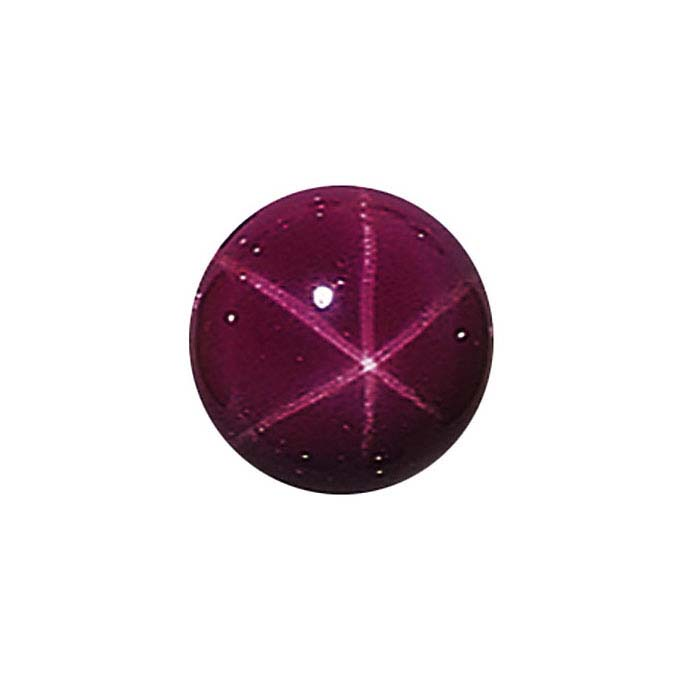 Lab-Created Star Ruby Round Cabochons