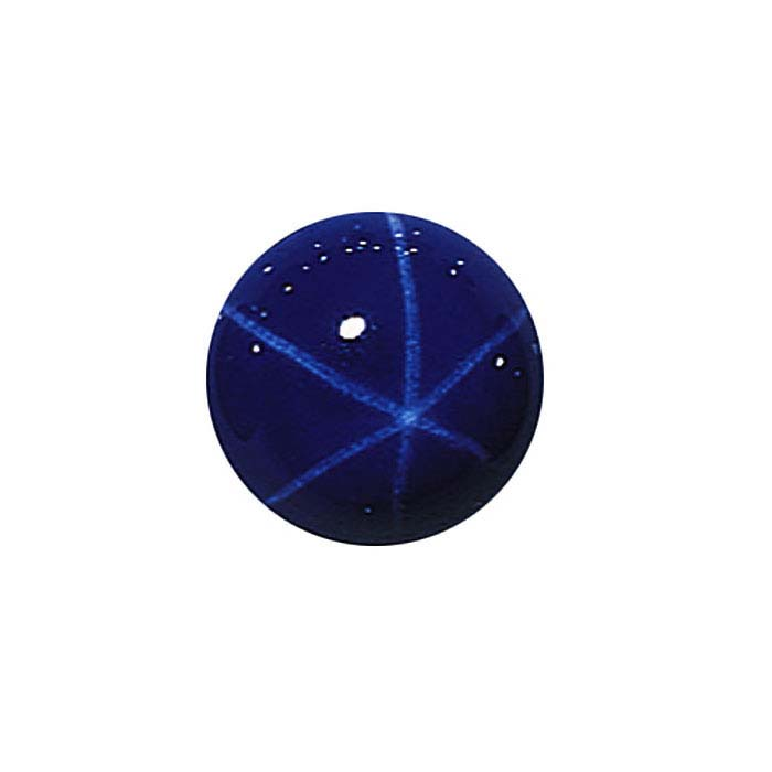 Lab-Created Blue Star Sapphire Round Cabochons