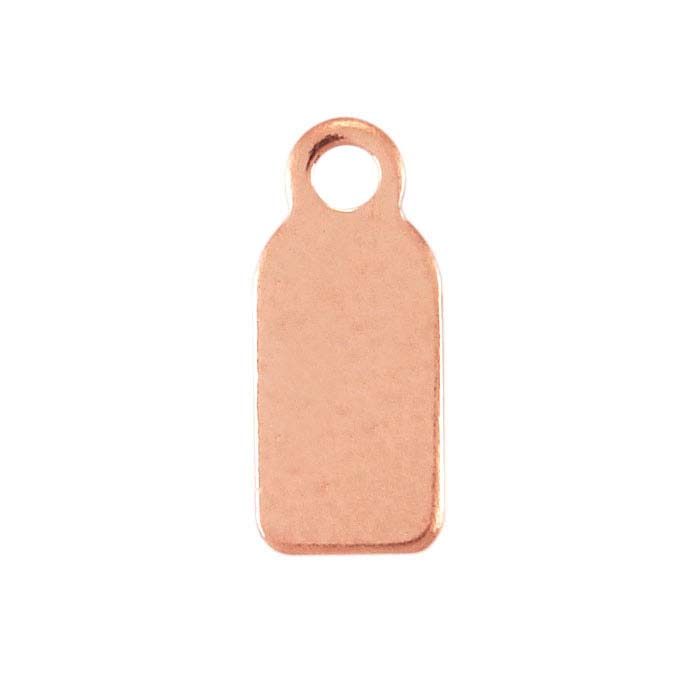 14/20 Rose Gold-Filled 11.5 x 4.9mm Rectangle Tag, 24-Ga.