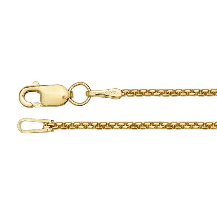 14/20 Yellow Gold-Filled Rounded Box Chains