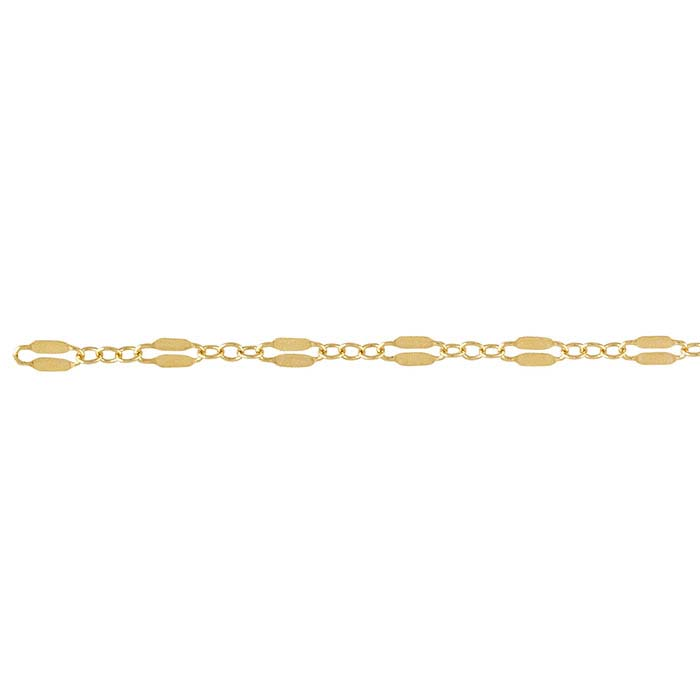 14/20 Yellow Gold-Filled Dapped Long & Short Chains