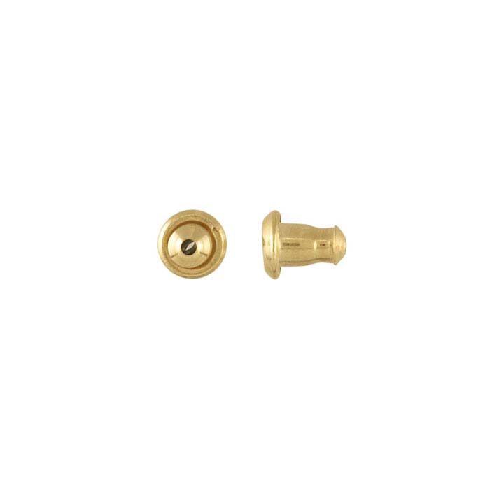 LuxLock™ 14K Yellow Gold 5.5mm Bullet Clutch