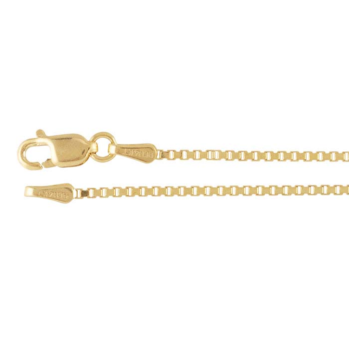 14K Yellow Gold Box Chains