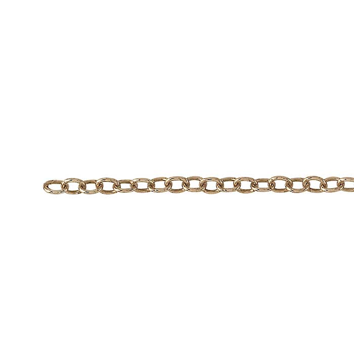 Bronze 1.8mm Oval Cable Chain, 250-ft. Spool