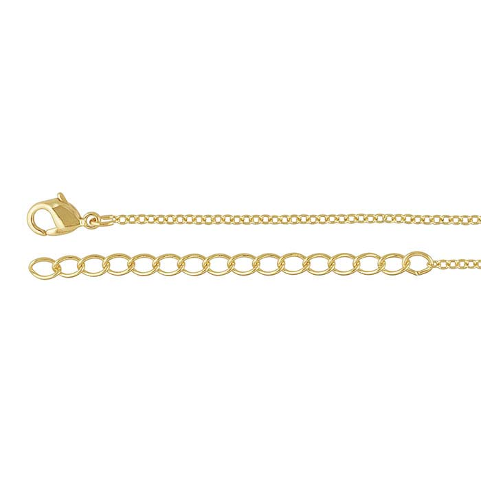 Brass Yellow Gold-Plated 1.6mm Cable Chain