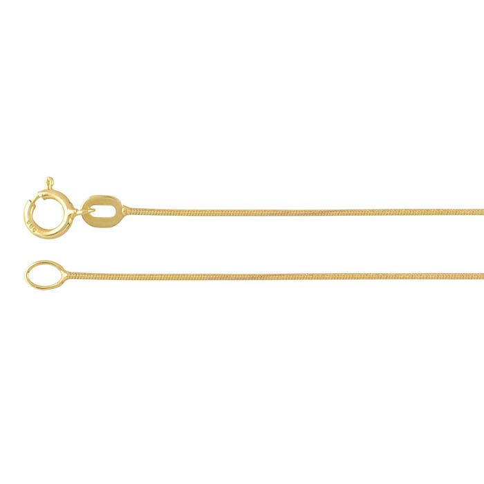 14K Yellow Gold Seamed Snake Chains