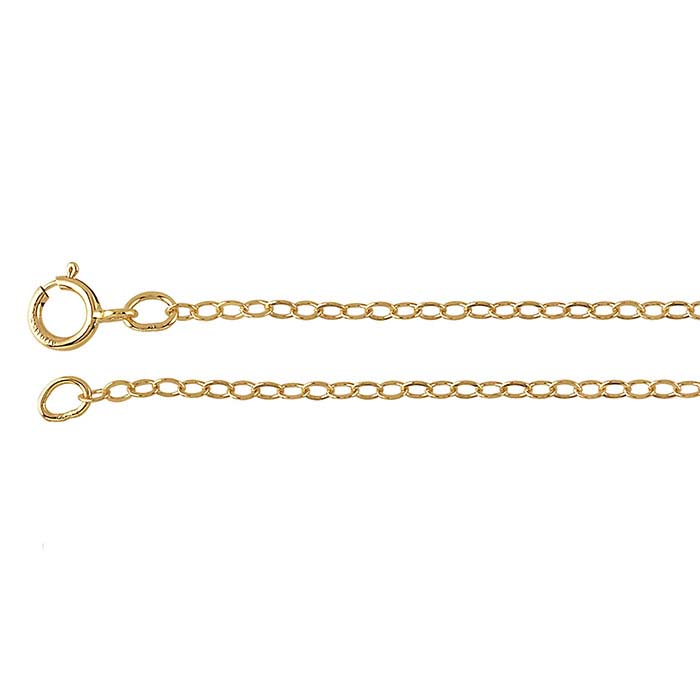 14/20 Yellow Gold-Filled 1.7mm Flat Oval Cable Chain
