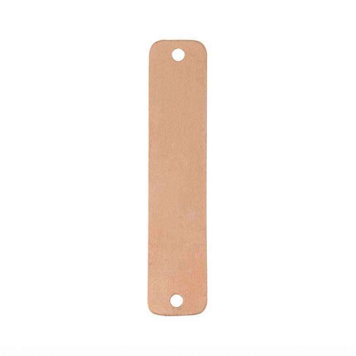 Copper Flat Rounded Rectangle Link Component