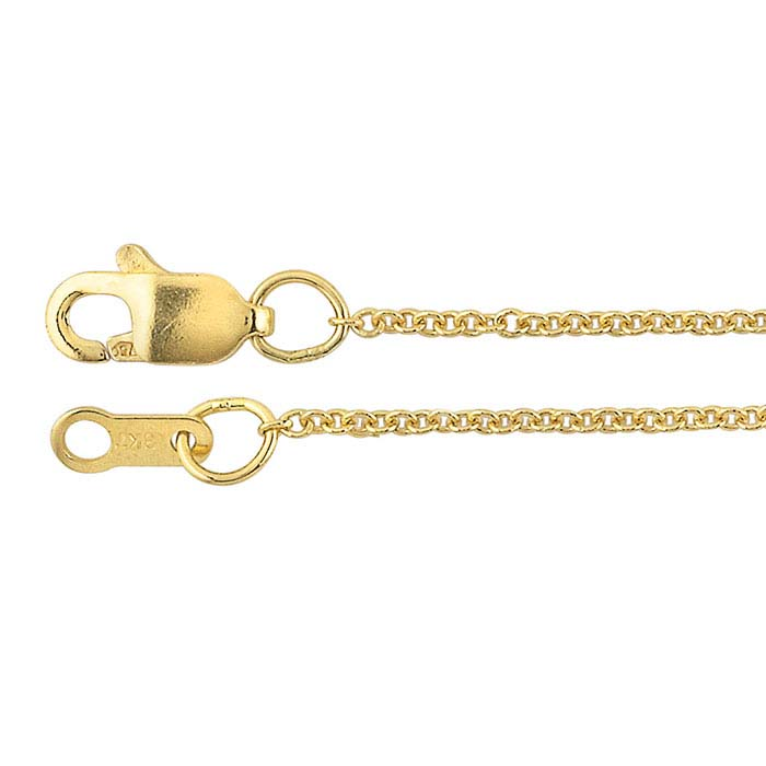 18K Yellow Gold Cable Chains