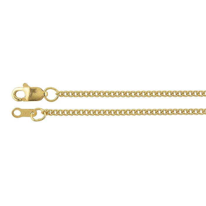 18K Yellow Gold 1.5mm Curb Chains