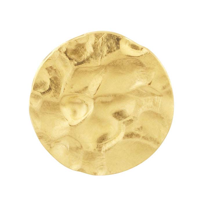 14/20 Yellow Gold-Filled Hammered Discs