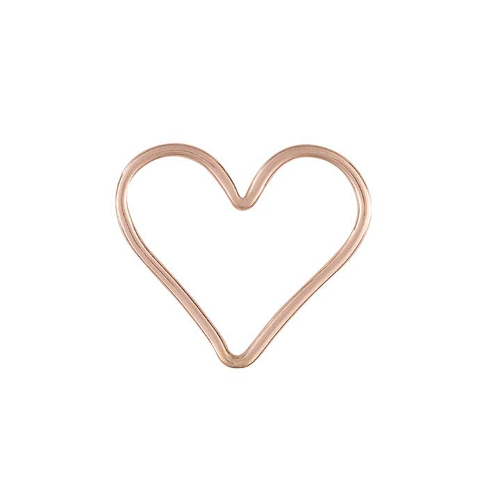 14/20 Rose Gold-Filled Open Heart Component