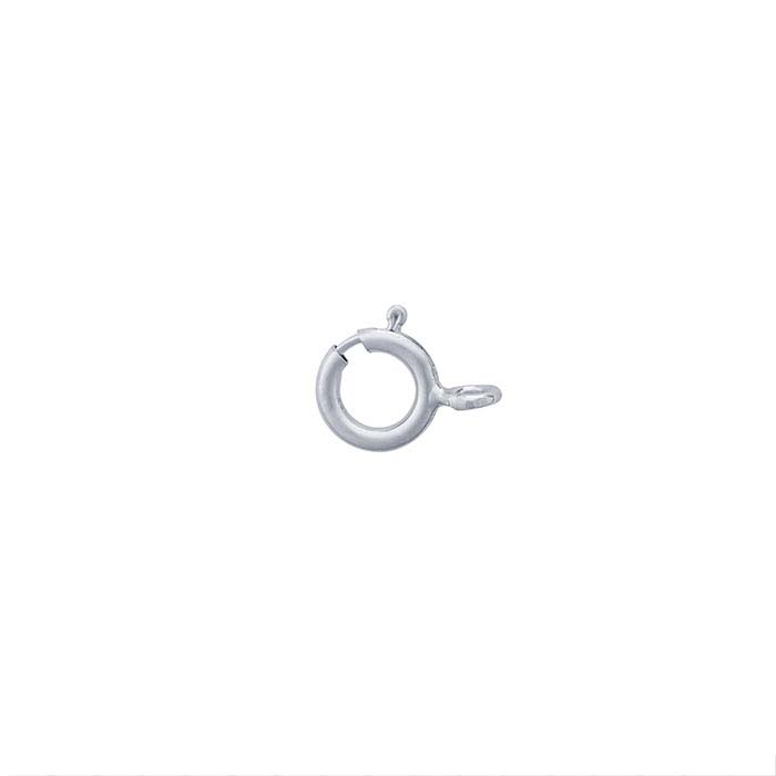 14K White Gold Lightweight Spring Ring Clasps