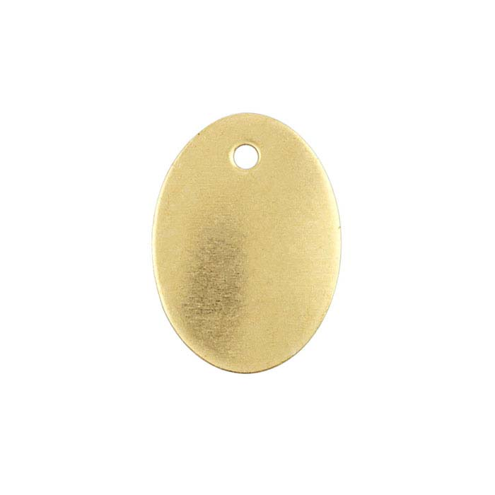 Brass 13.1 x 9.5mm Oval Tag, 22-Ga.