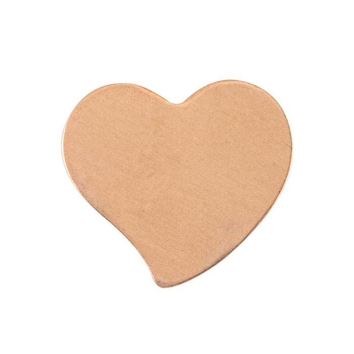 Copper 15 x 13mm Fancy Heart Stamping, 24-Ga.