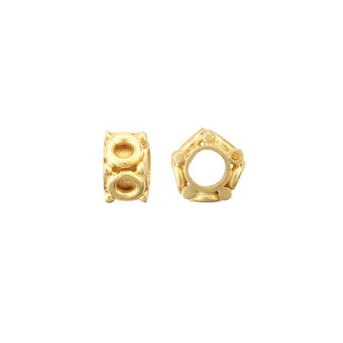 18K Yellow Gold 4 x 2.6mm Pentagon Bead