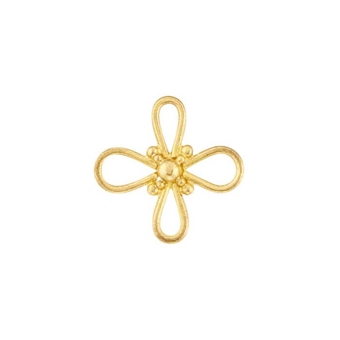 18K Yellow Gold Flower Component