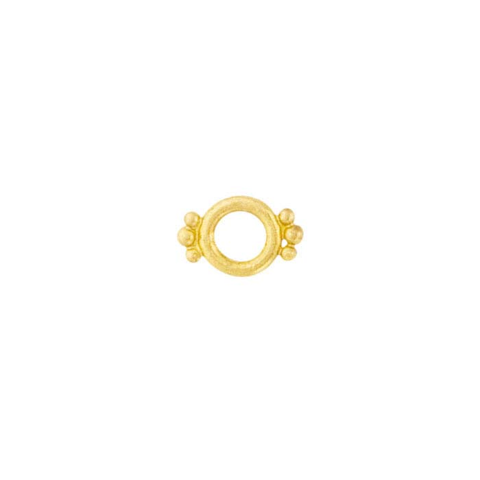 18K Yellow Gold Bead-Accented Circle Component