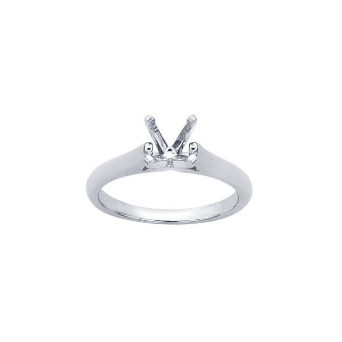 Platinum Pre-Notched 1-Ct. Round Engagement Ring Mounting