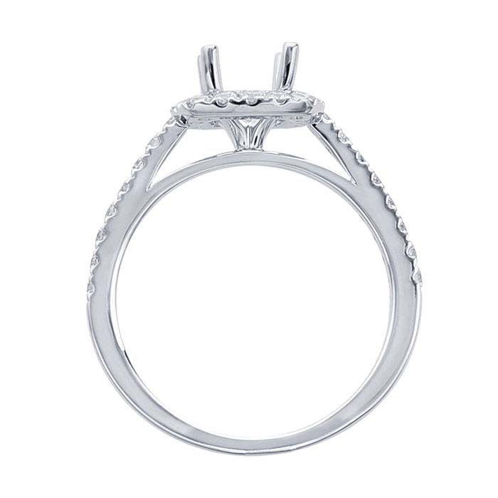 platinum 1 ct semi mount square halo ring mounting