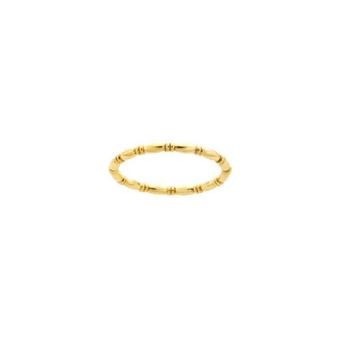 12/20 Yellow Gold-Filled Beaded-Pattern Rings