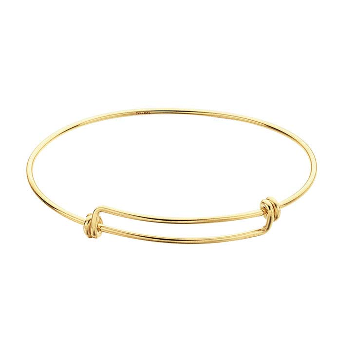 14/20 Yellow Gold-Filled Expandable Bangle Bracelets