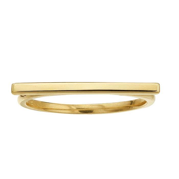 14k white gold bar ring