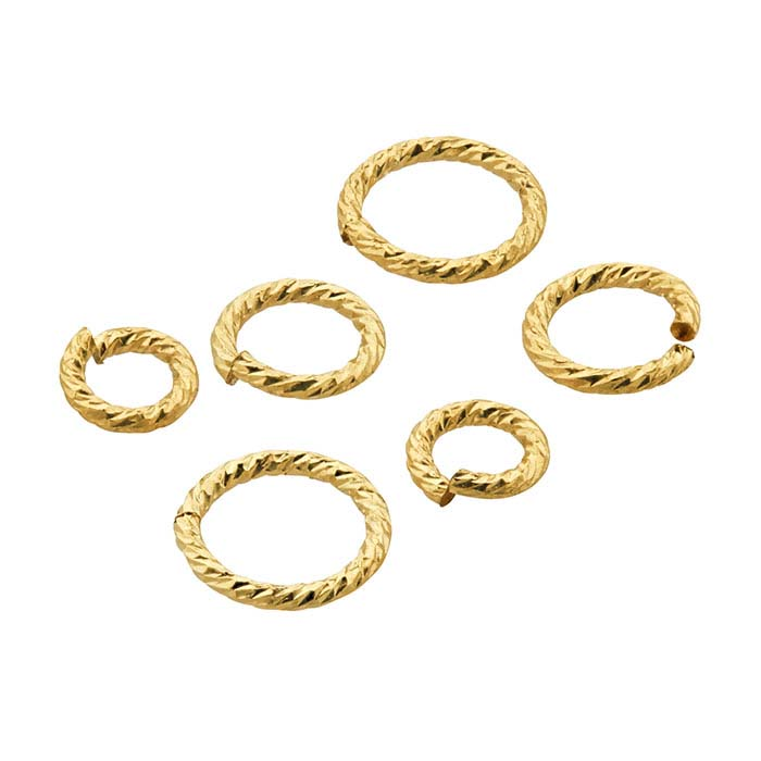 "14/20 Yellow Gold-Filled ""Sparkle"" Round Jump Rings"
