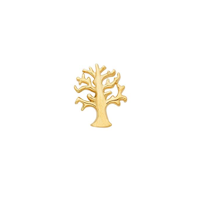 "14K Yellow Gold ""Tree of Life"" Component for Floating Glass Lockets"