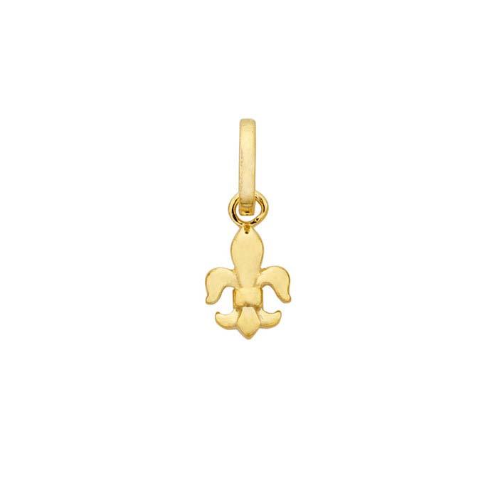 14K Yellow Gold Fleur-de-Lis Pendant