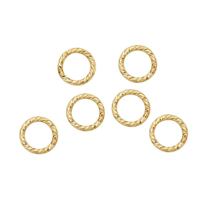 14/20 Yellow Gold-Filled 3.5mm Round Sparkle Closed Ring
