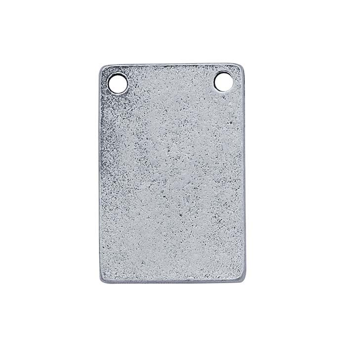 Britannia Pewter Flat 2-Hole Rectangle Component