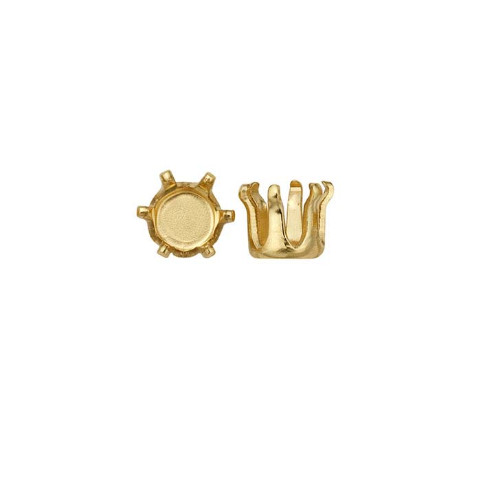 14/20 Yellow Gold-Filled Round Snap-Set™ 6-Prong Settings