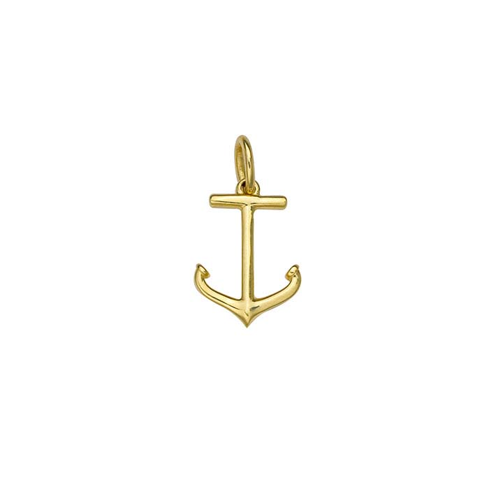 14k yellow gold anchor charm aloadofball