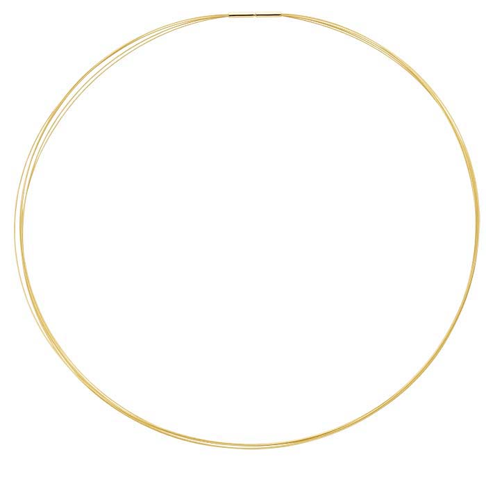 14K Yellow Gold 0.4mm 5-Strand Cable Neck Wire