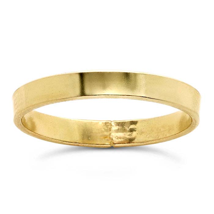 14/20 Yellow Gold-Filled Flat Wire Stackable Rings