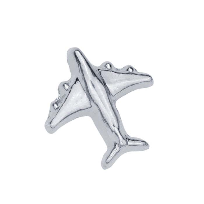 Base Metal Airplane Component for Floating Glass Lockets
