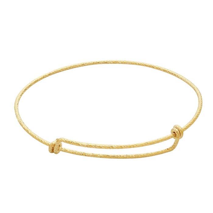 14/20 Yellow Gold-Filled Sparkle Expandable Bangle Bracelet