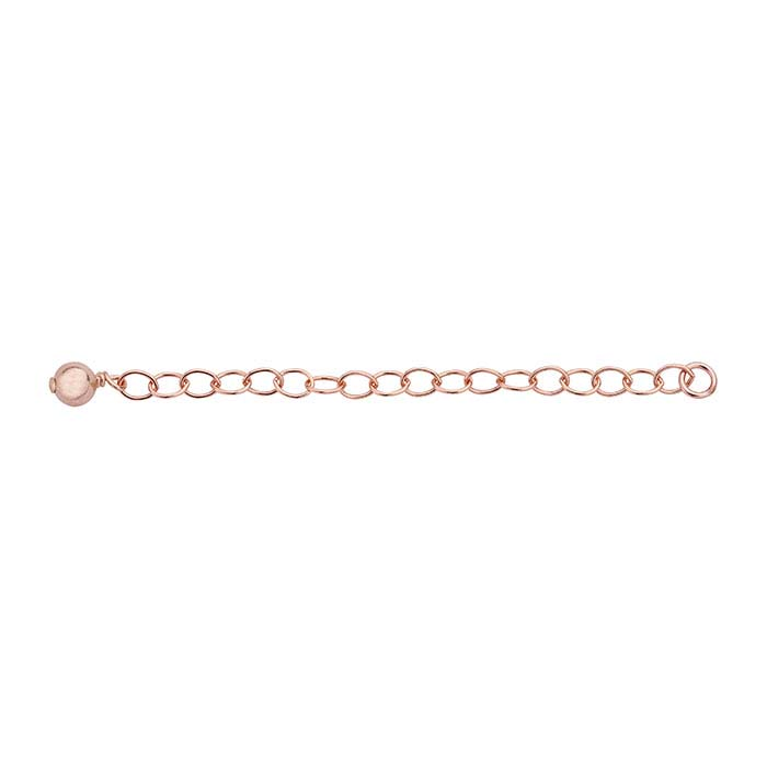14/20 Rose Gold-Filled Bead-Accented Oval Cable Chain Extender