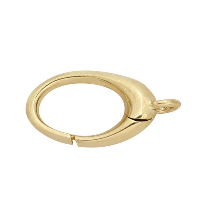 14K Yellow Gold Oval Push Clasp
