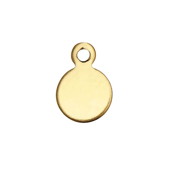 14/20 Yellow Gold-Filled Round Tags, 24-Ga.